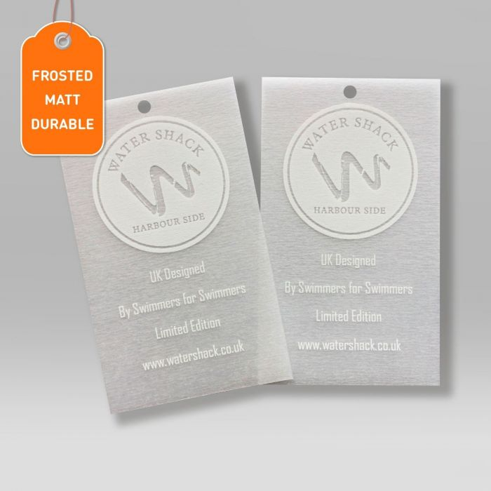 Frosted Swing Tags