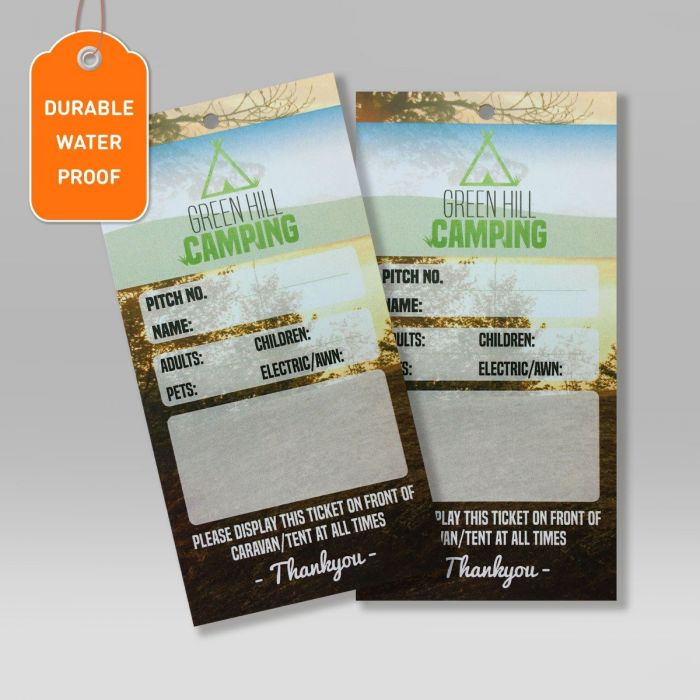 Waterproof Swing Tags