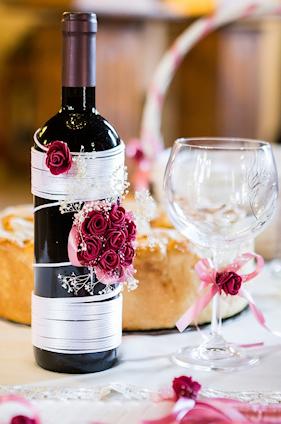 Flowers Decorating bottle