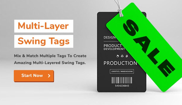 Swing Tags - Custom Made - Biggest Choice - Free UK Delivery